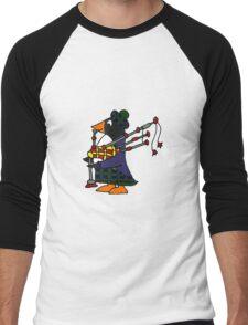Cool Funny Penguin Playing Bagpipes Men's Baseball ¾ T-Shirt