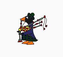 Cool Funny Penguin Playing Bagpipes T-Shirt