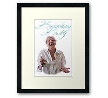 Elaine Stritch - Broadway Baby Framed Print