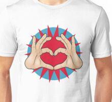 Pop Art Hand Heart Hand Sign Unisex T-Shirt
