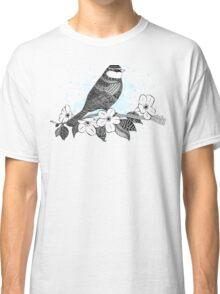 Bird on cherry blossoms Classic T-Shirt