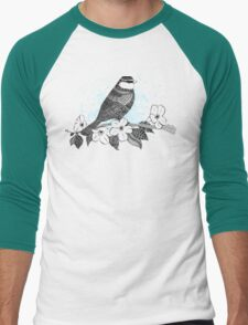 Bird on cherry blossoms Men's Baseball ¾ T-Shirt