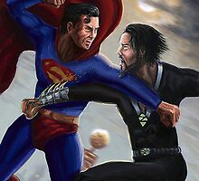 Superman versus Zod by Sunil Kainth
