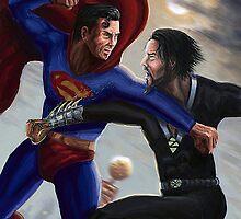 Superman versus Zod by Sunil Kainth