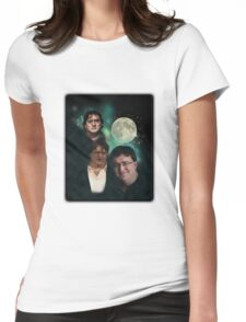 3 Moons of GabeN Womens Fitted T-Shirt