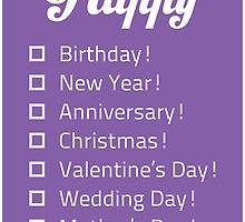 Happy... Check-list Card by LookOutBelow