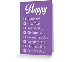 Happy... Check-list Card Greeting Card