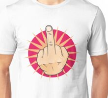 Vintage Pop Art Middle Finger Up Gesture. Unisex T-Shirt