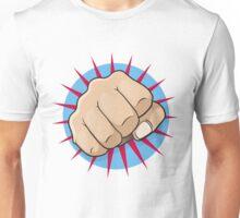 Vintage Pop Art Punching Fist Sign Unisex T-Shirt