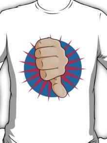 Vintage Pop Art Thumbs Down Sign. T-Shirt