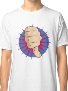 Vintage Pop Art Thumbs Down Sign. Classic T-Shirt