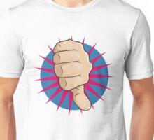 Vintage Pop Art Thumbs Down Sign. Unisex T-Shirt