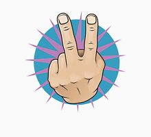 Vintage Pop Two Fingers Up Hand Sign. T-Shirt