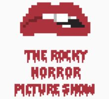 8-Bit Rocky Horror Lips Kids Clothes