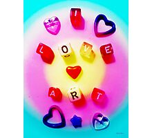I Love Art Photographic Print