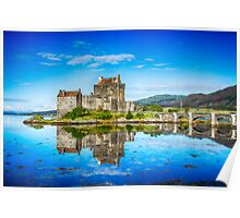 Eilean Donan Castle Reflections 2 Poster