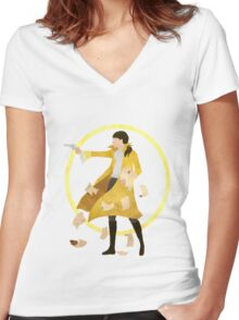 The World is Wide Enough Women's Fitted V-Neck T-Shirt