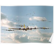 B17 - Mighty 8th En-route Poster