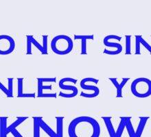 Lyric Police Sticker