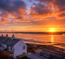 Sunset Views Over The River Wyre by FyldePhotos