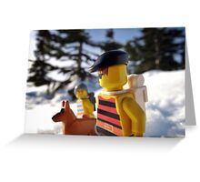 Pirate Snowshoeing  Greeting Card