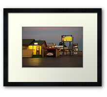Lincoln Motel Reception  Framed Print