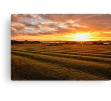 Sunset Knott End Golf Course Canvas Print