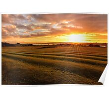 Sunset Knott End Golf Course Poster