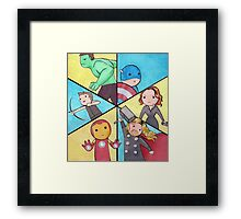 ASSEMBLE! Framed Print