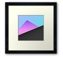 Simple Minimal Blue, Purple, & Black Geometric Framed Print