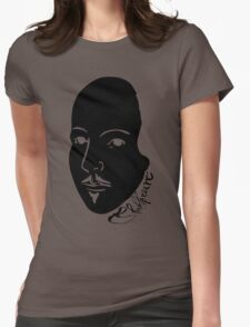 Inverted Black & White Shakespeare Womens Fitted T-Shirt