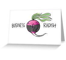 Business Radish Greeting Card