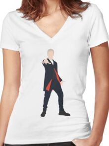 12th Doctor Peter Capaldi Women's Fitted V-Neck T-Shirt