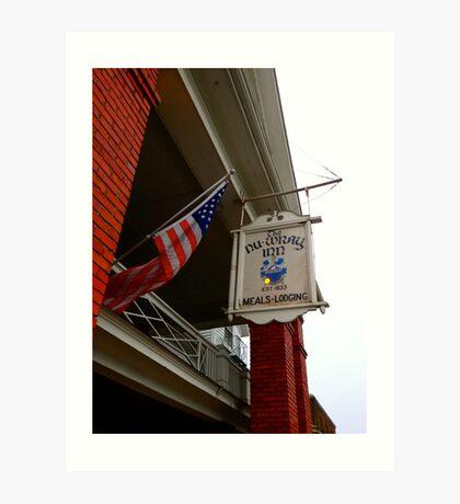 Historic NuWray Inn, Burnsville, NC Art Print