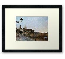 Painting Segovia Framed Print