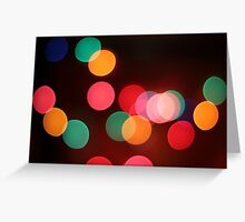 Bokeh Greeting Card
