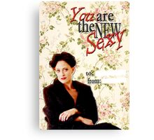 Irene Adler Valentine's Day Card - The New Sexy Floral Canvas Print