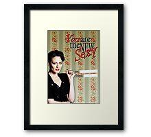 Irene Adler Valentine's Day Card - The New Sexy III Framed Print