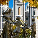 Salt Lake Temple Family Circle 20x24 by Ken Fortie