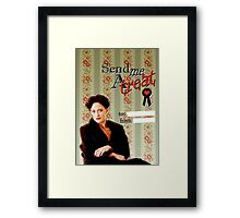 Irene Adler Valentine's Day Card - Send Me A Treat Framed Print