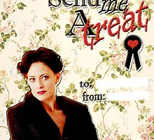Irene Adler Valentine's Day Card - Send Me A Treat Floral by thescudders