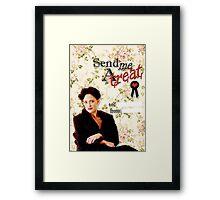 Irene Adler Valentine's Day Card - Send Me A Treat Floral Framed Print