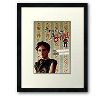 Irene Adler Valentine's Day Card - Send Me A Treat II Framed Print