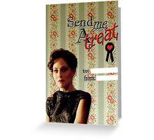 Irene Adler Valentine's Day Card - Send Me A Treat II Greeting Card