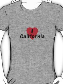 I Love California - USA T-Shirt & Decal T-Shirt