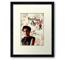 Irene Adler Valentine's Day Card - Send Me A Treat Floral II Framed Print