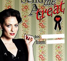 Irene Adler Valentine's Day Card - Send Me A Treat III by thescudders