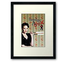 Irene Adler Valentine's Day Card - Send Me A Treat III Framed Print