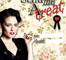 Irene Adler Valentine's Day Card - Send Me A Treat Floral III by thescudders
