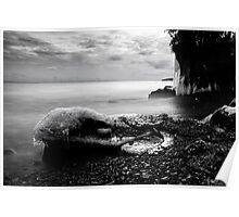 White Cliffs, Lake Superior Poster